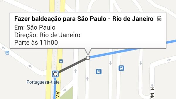 Google Maps oferece baldeação de São Paulo para o Rio