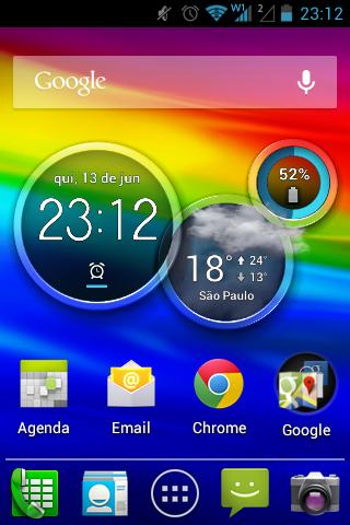 Sem muitas modificações em relação ao Android puro