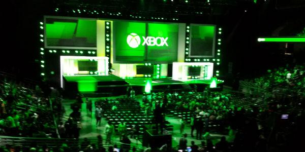 Palco da conferência da Microsoft