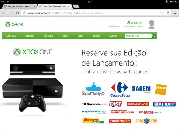 Xbox One em pré-venda