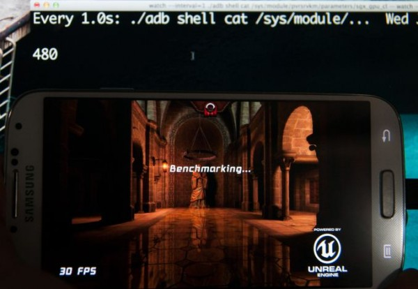 Rodando o game Epic Citadel...