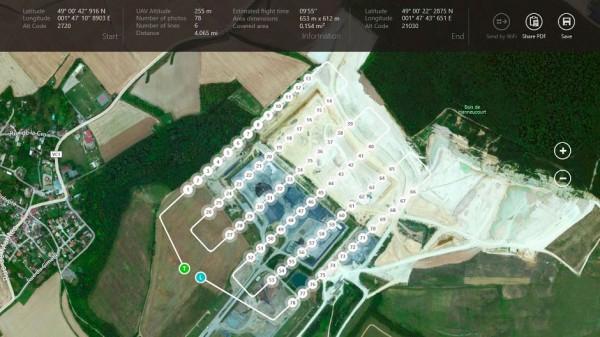 Tela do app OperationCenter com o plano de voo para o LA300