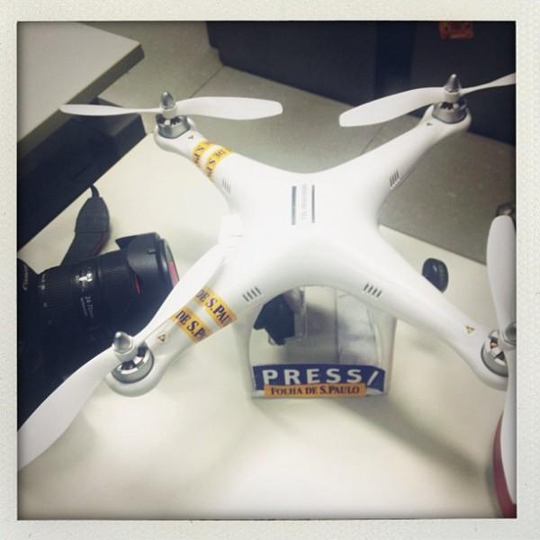 Drone utilizado pela Folha de S. Paulo