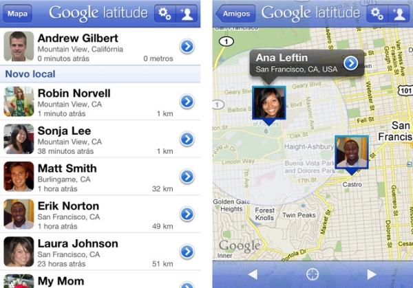 Google Latiude para iOS