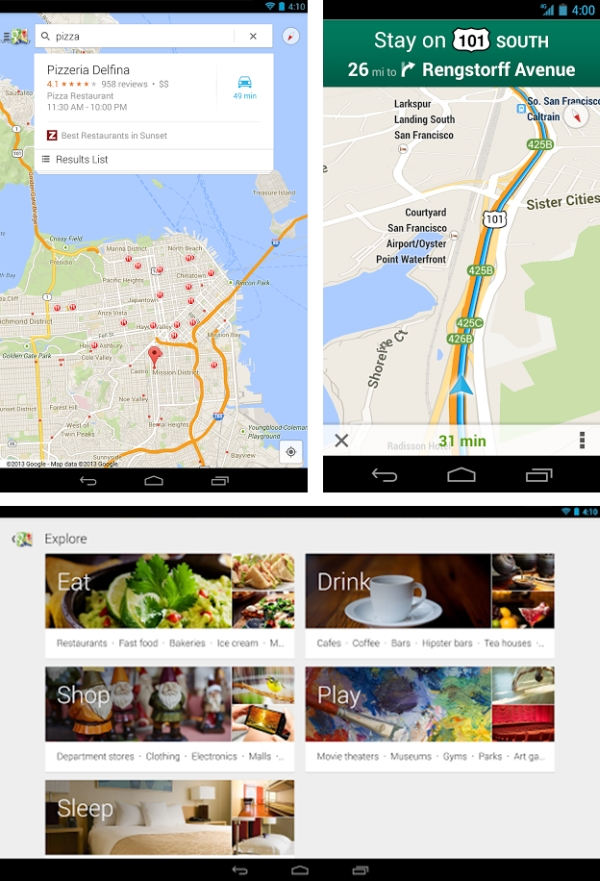 Novo Google Maps para Android