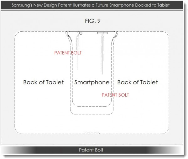 "Patente do ""PadFone"" da Samsung (Fonte: Patent Bolt)"