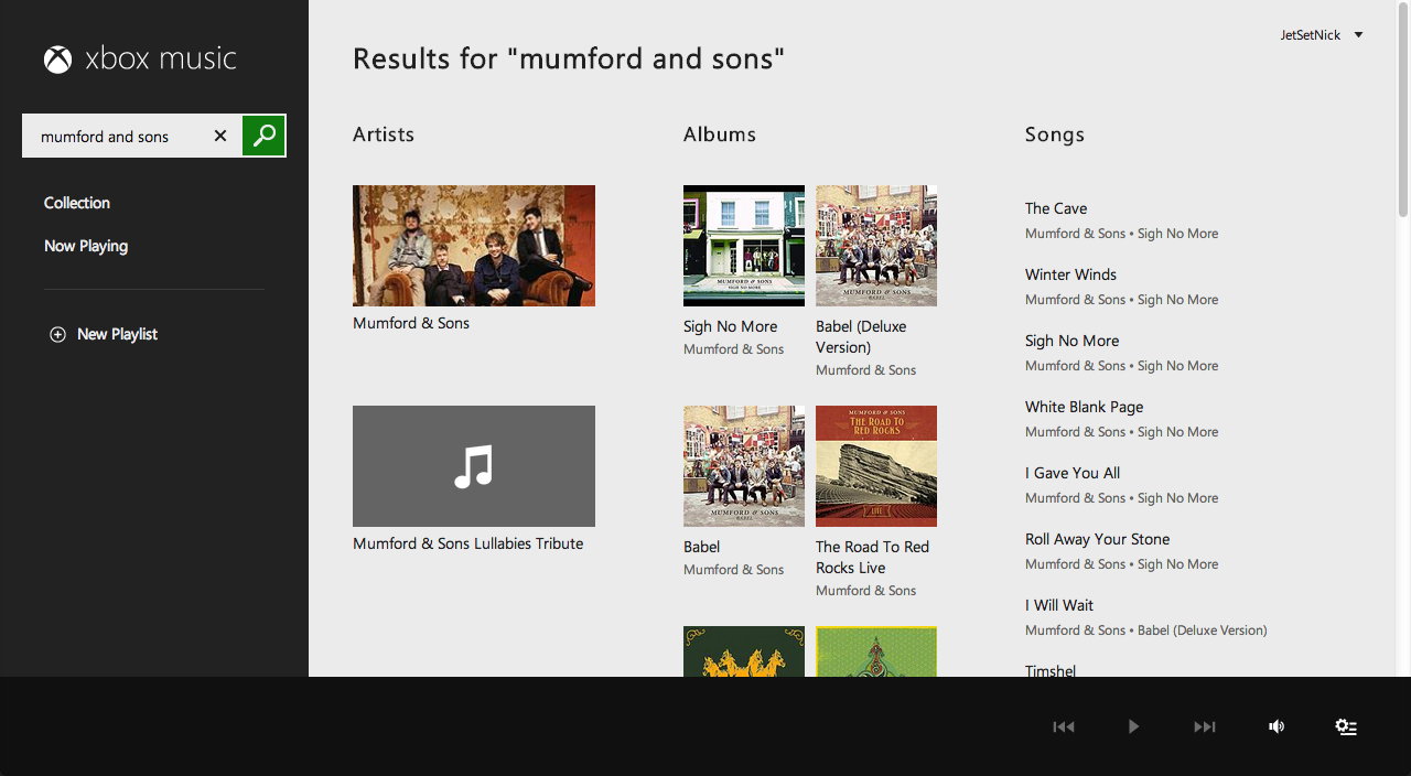 Xbox Music Wins Web Interface