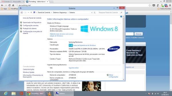 Índice de experiência do Windows: HD puxando para baixo