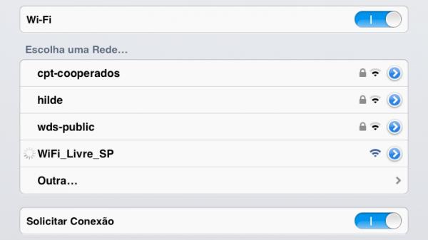Procure por este SSID: WiFi_Livre_SP
