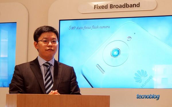 Veni Shone, CEO da Huawei do Brasil, anuncia produção local e novo smartphone