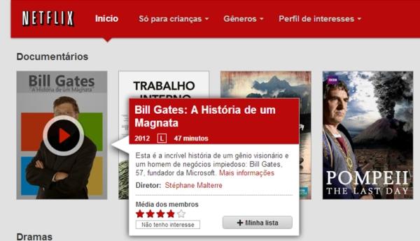 Opção Minha Lista na Netflix