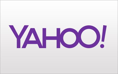 O primeiro dos 30 logotipos do Yahoo é este