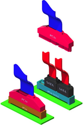 Ilustração do SATA Express