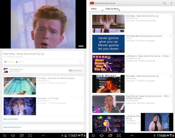 YouTube 5.0 para Android