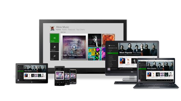 Todas as telas do Xbox Music