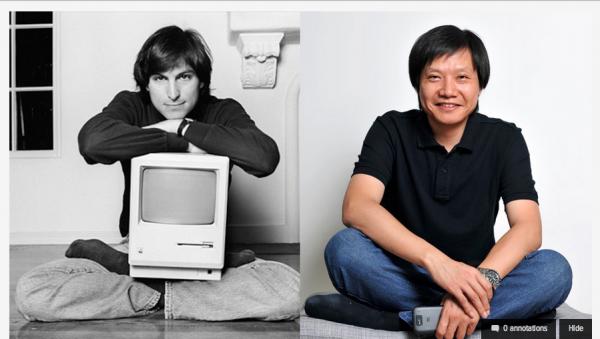Steve Jobs e Lei Jun: há uma semelhança, vai?