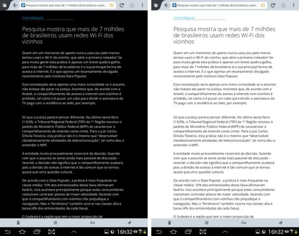 Os modos de leitura do Firefox 24