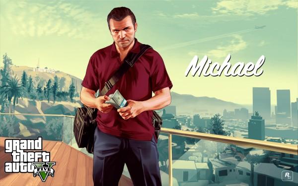 GTA V custou bem mais que esse montinho de dinheiro na mão de Michael, um dos protagonistas