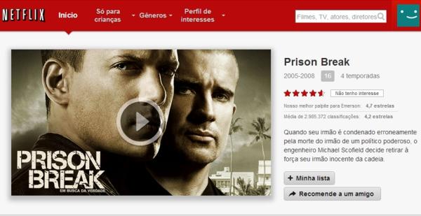 A Netflix decidiu apostar em Prision Break depois de olhar os sites piratas