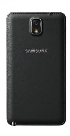 Galaxy Note 3 tem traseira de plástico com textura que lembra couro