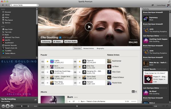 Spotify para desktop: substitui seu player de música