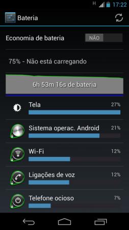 Normalmente é assim: longa bateria, mesmo para um usuário mais exigente como eu