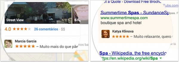 Exemplo de anúncios com dados de usuários