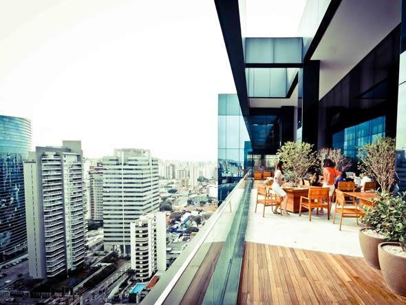 Vista do escritório do Google em São Paulo