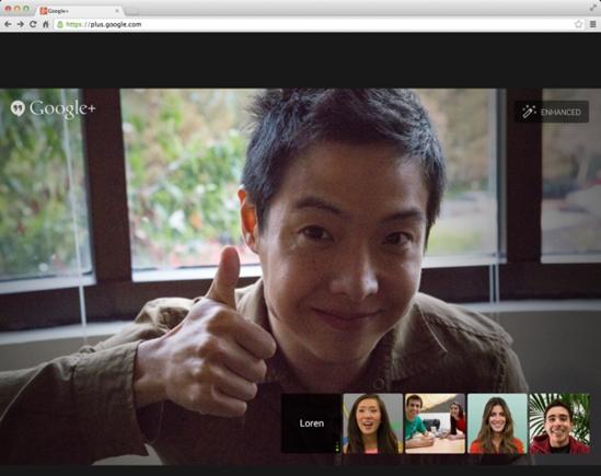 Hangouts em tela cheia e com ajustes automáticos