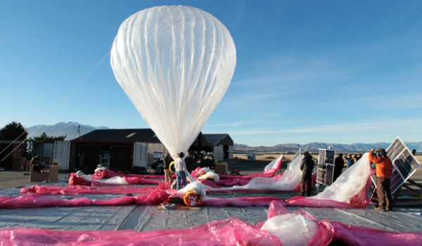 Balão do Project Loon na Nova Zelândia, onde foram realizados os primeiros testes