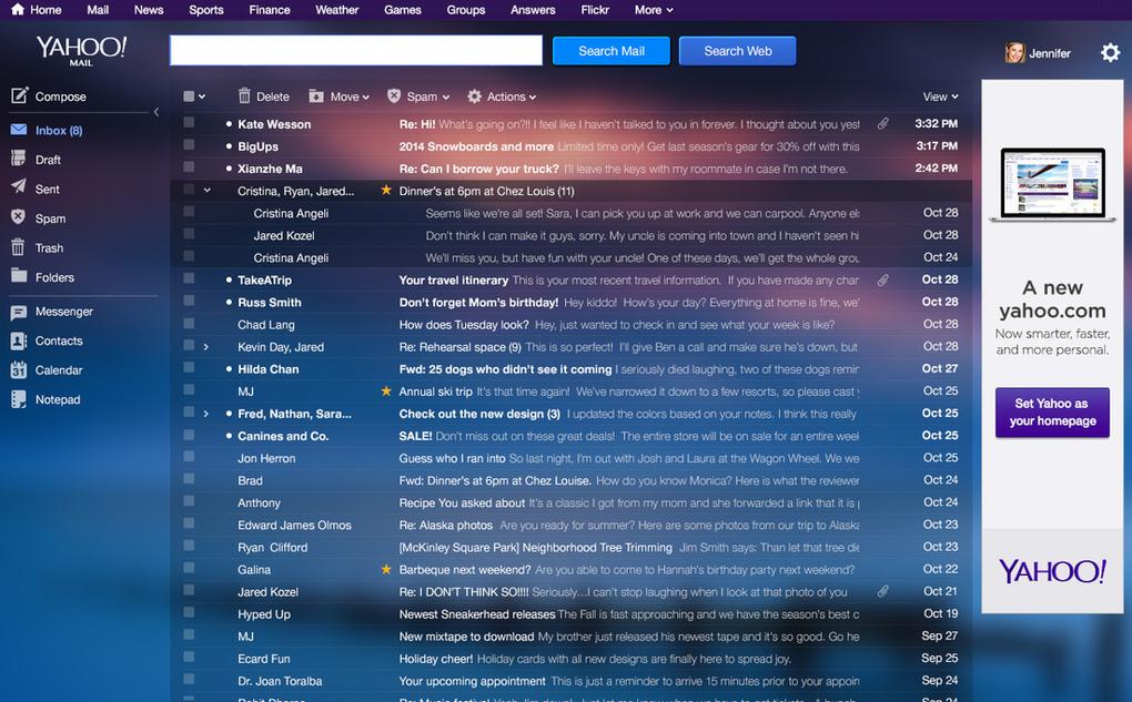 Yahoo mail completa 16 anos de vida ganha novo visual e oferece 1 o novo yahoo mail mostra emails agrupados em conversas como o gmail em vez de exibir cada mensagem individualmente na caixa de entrada ao selecionar ou stopboris Images