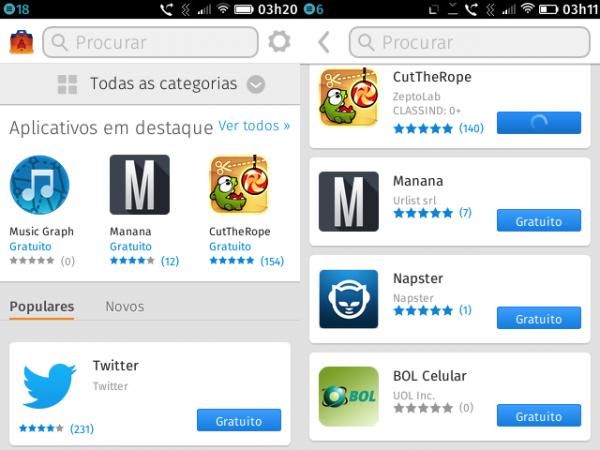 Apps no Firefox OS: vários falsos positivos e repetições