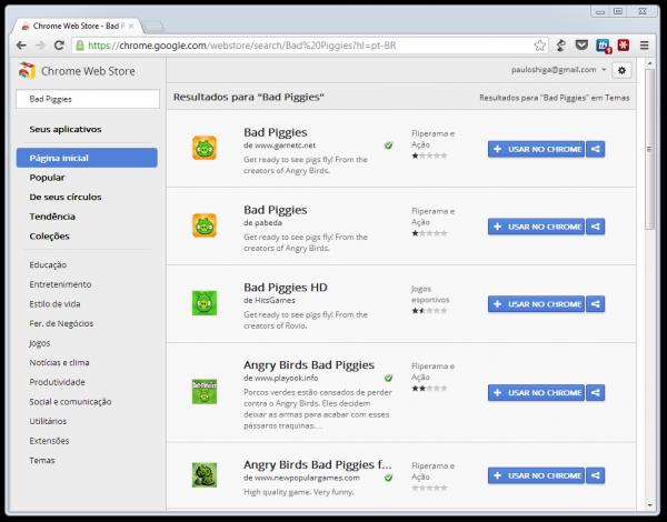 Chrome Web Store estava infestada de Bad Piggies falsos