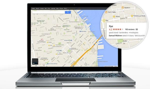 Google Maps - laptop