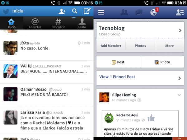 Twitter e Facebook: é como acessar os serviços pelo navegador