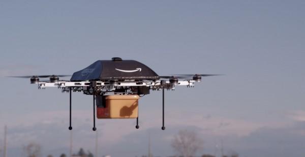 Drone da Amazon no ar