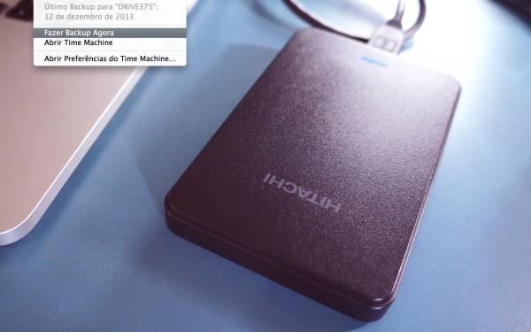 HD Externo Hitachi com TimeMachine