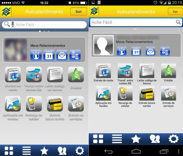 Falha nos apps para iOS e Android (Fotos: @robertofelix e @CelsoJr)