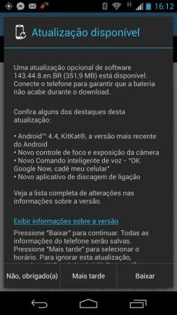 Moto X brasileiro, agora com KitKat