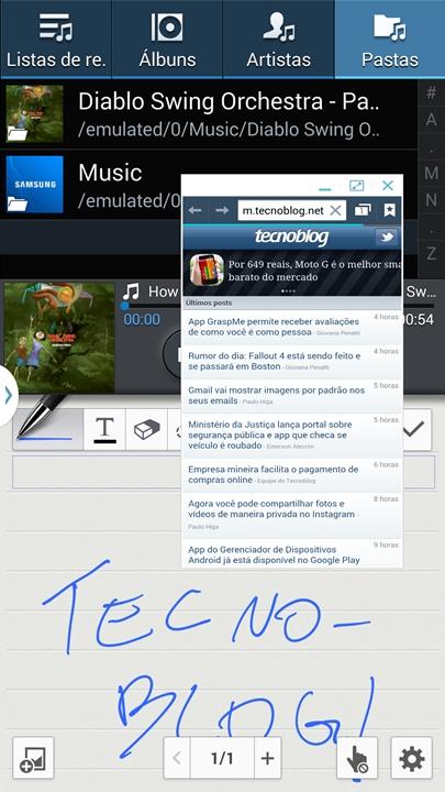 Tela divida - Samsung Galaxy Note 3