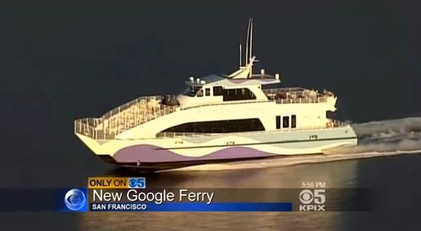 Afiliada da CBS mostra o Google Ferry