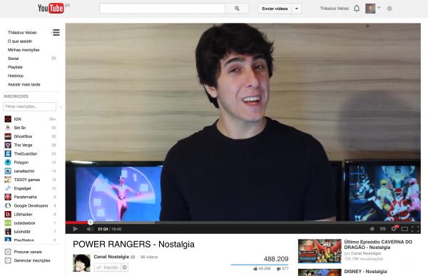 Episódio do Nostalgia sobre Power Rangers