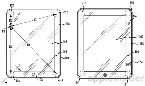 Patente sobre telas da Apple