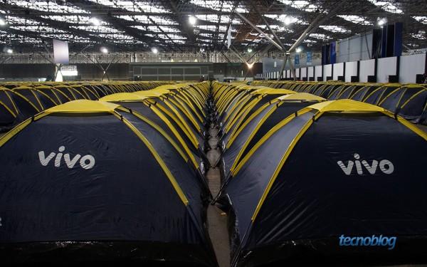 Muitas barracas para quem vai acampar na Campus Party