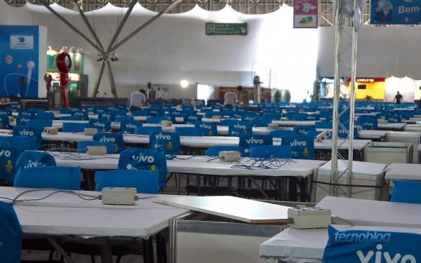 Ainda está vazio, mas oito mil campuseiros sentarão nessas cadeiras a partir de amanhã