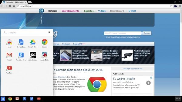 Modo Windows 8 no Chrome 32