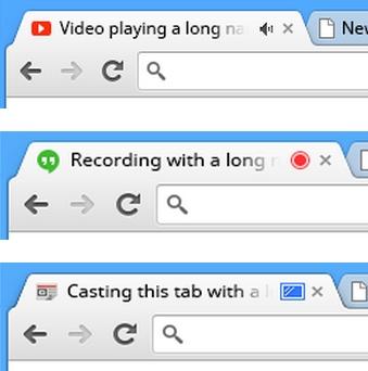 Abas barulhentas no Chrome