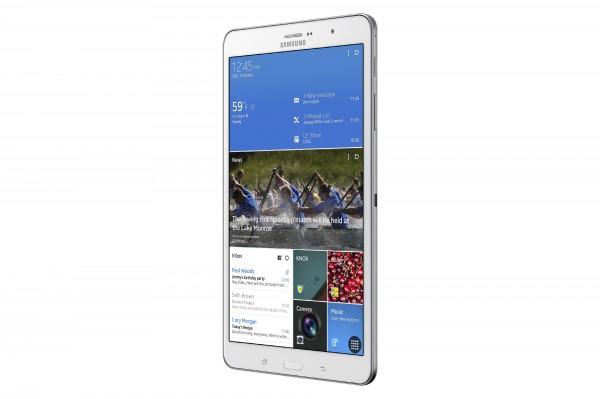 Galaxy TabPRO de 8,4 polegadas é o único com design diferente, em modo retrato em vez de paisagem