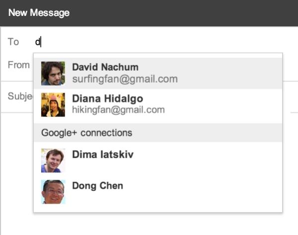 Google+ integrado com Gmail