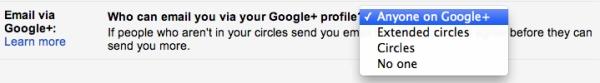 Configurando a integração do Google+ com o Gmail